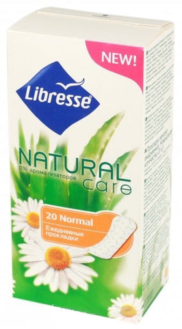 LIBRESSE NATURAL CARE NORMAL PANTY LINERS