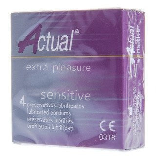ACTUAL EXTRA PLEASURE SENSITIVE CONDOMS