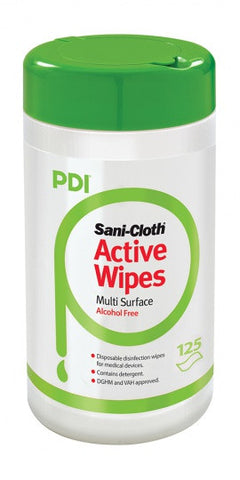 PDI SANI-CLOTH ACTIVE DISINFECTION ALCOHOL-FREE WIPES