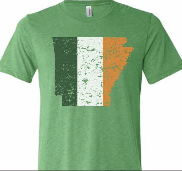 irish arkansas t-shirt st. patrick's day