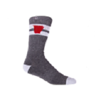 arkansas socks - heather charcoal/red