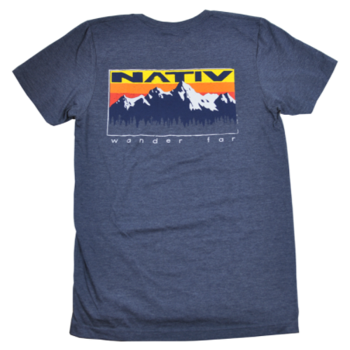 nativ summit t-shirt - heather navy