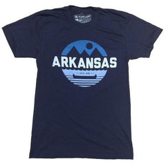 Arkansas Retro Canoe T-Shirt - Navy