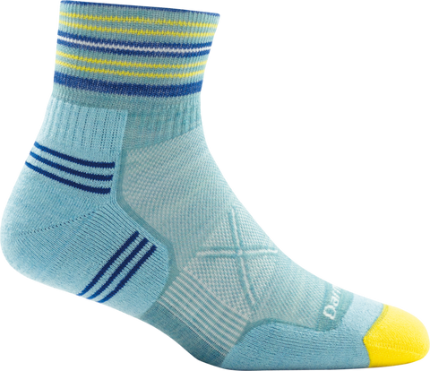 Darn Tough Vertex 1/4 Ultra Light Women's Running Sock Light Blue