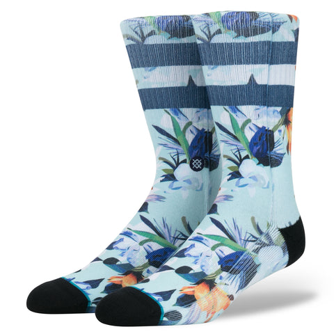 stance socks wipeout blue