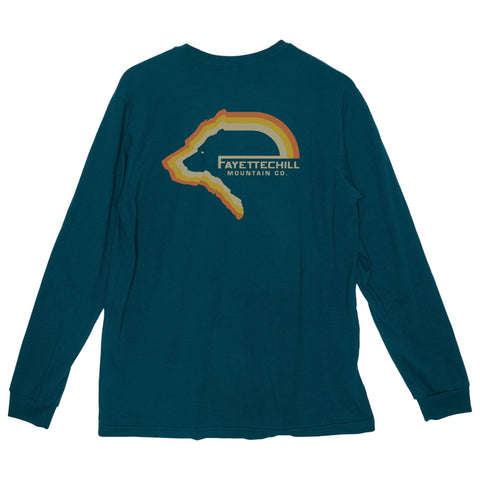 fayettechill tiller bear long sleeve tidal teal
