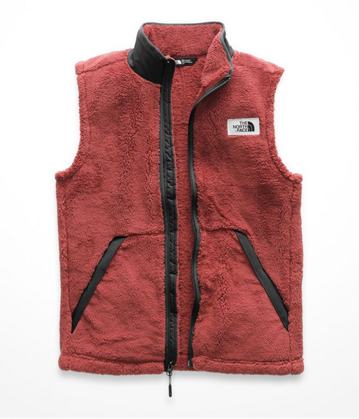 the north face mens campshire vest caldera red and urban navy