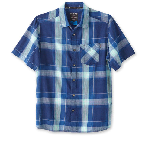 kavu mens short sleeve button up solstice