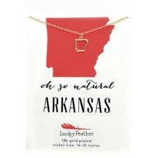Arkansas Necklace - Gold Outline