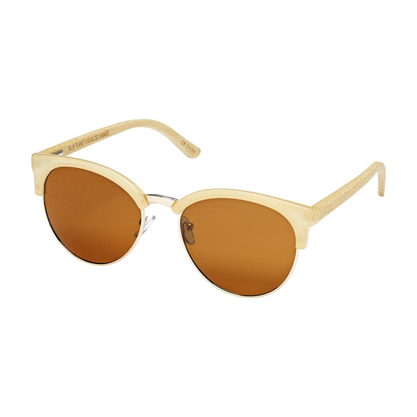 blue planet sunglasses marin milky beige