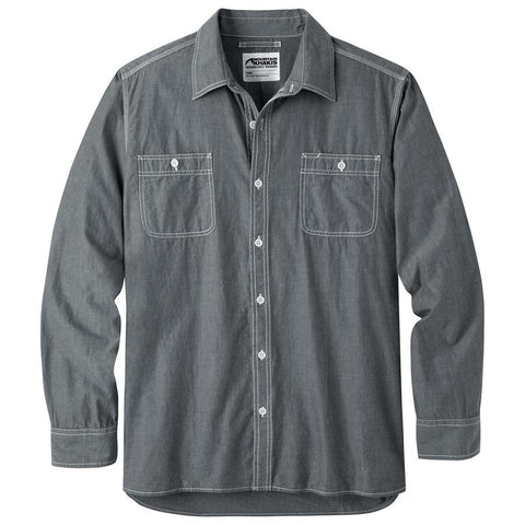 Mountain Khakis Men's Long Sleeve Chambray Shirt -  Black