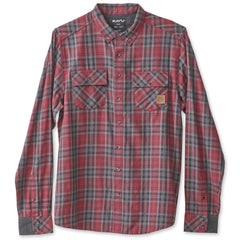 KAVU Buffaroni Flannel Shirt - Burgundy