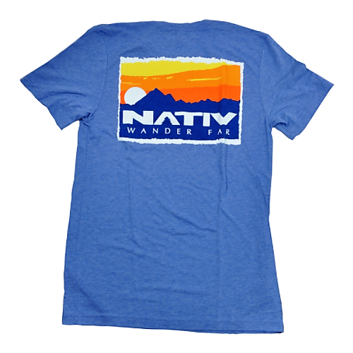 nativ sierra t-shirt heather blue