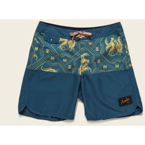 howler brothers vaquero boardshort - prize fight stripe - marine blue