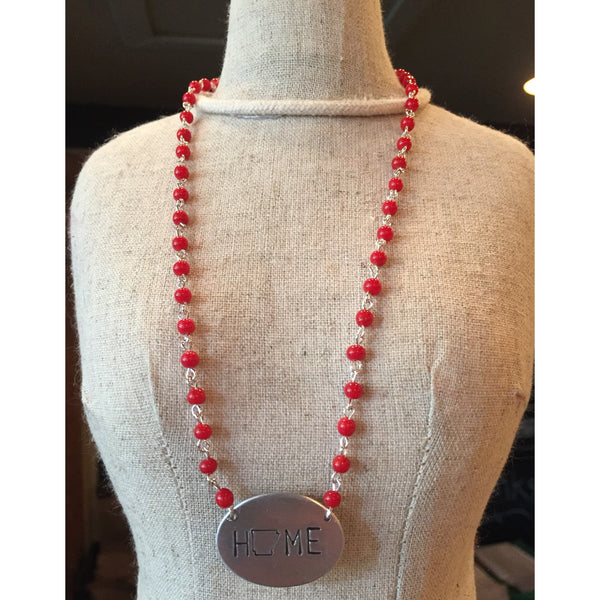 Arkansas Necklace with Home Charm