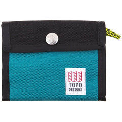 Topo Designs Black Turquoise Snap Wallet