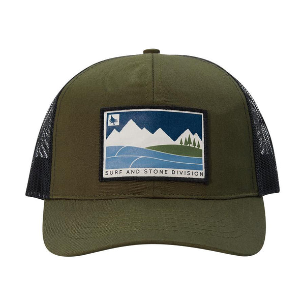 hippy tree division trucker hat military