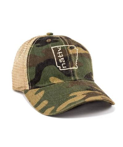 nativ arkansas trucker hat camo