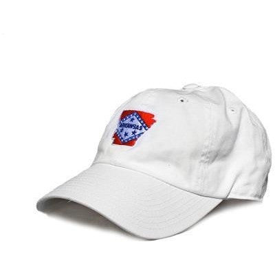 white arkansas flag hat