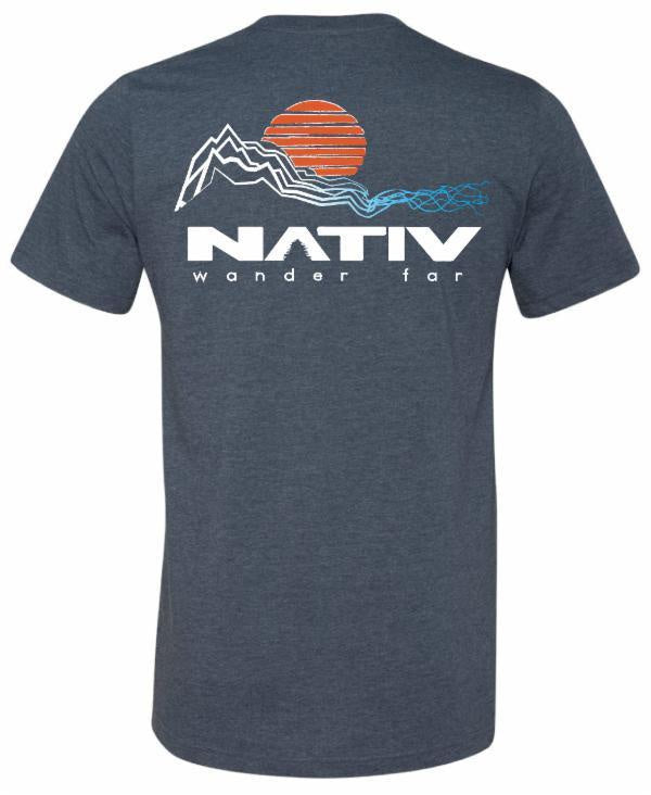 nativ cascade t-shirt navy