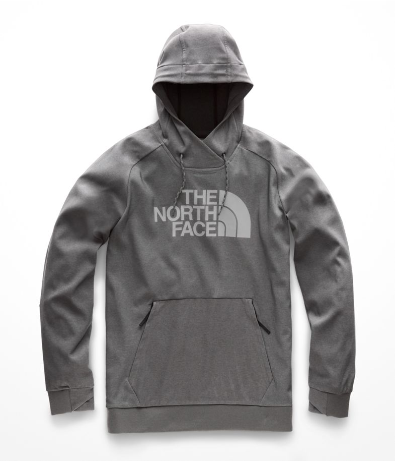 the north face tekno hoodie zinc gray