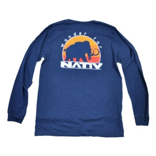 nativ evolution t-shirt long sleeve navy