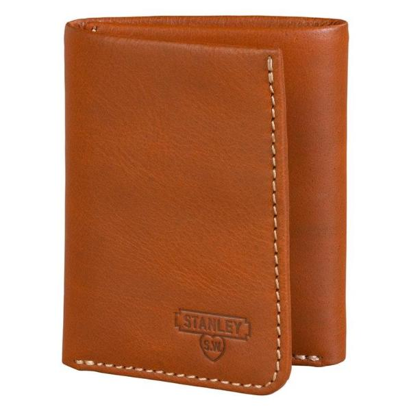 Stanley Tantri Fold Tan Leather Wallet closed