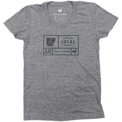 Support Arkansas Grid (W) - Grey