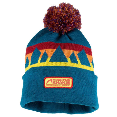 mountain khakis sunset beanie blue