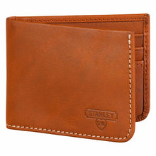 Stanley Tan Leather Bi-fold Money Clip Wallet
