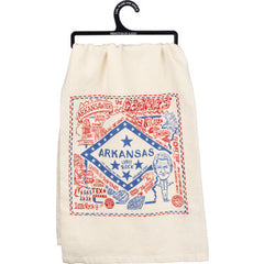 Arkansas Embroidered Dish Towel