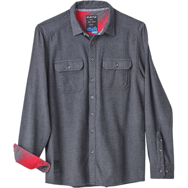 KAVU Button Down Shirt - Franklin - Black Smoke