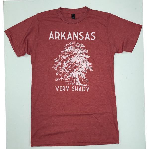 arkansas very shady t-shirt heather red