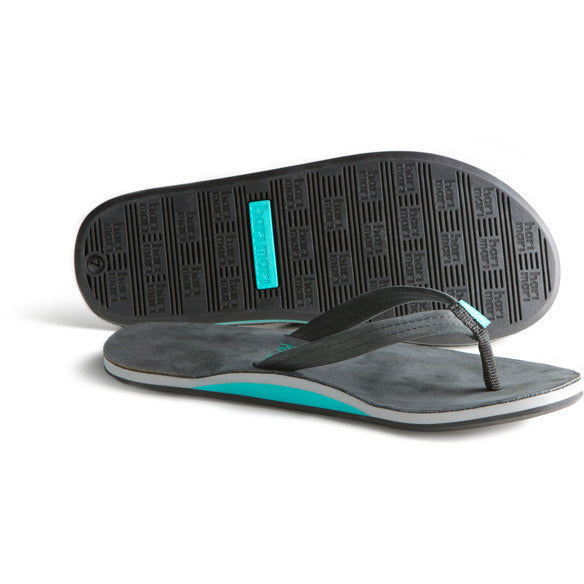 hari mari flip flops - women's sea foam and black