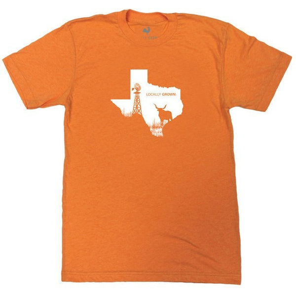 Locally Grown Texas T-Shirt Orange