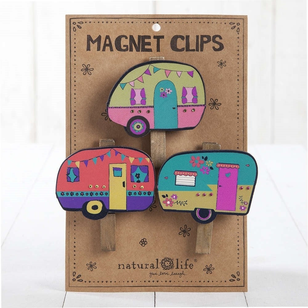 Set of 3 Magnetic Camper Clips