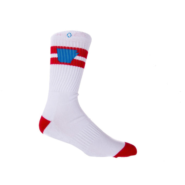 Tailgater Arkansocks in Red/Cyan