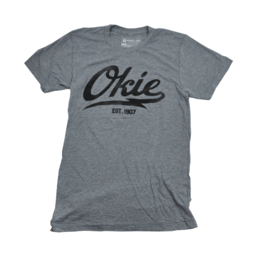 okie t-shirt - heather grew