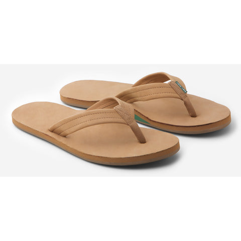 green and tan hari mari flip flops