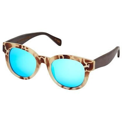 blue planet clarita sunglasses ivory tortoise