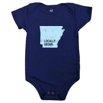 Arkansas Locally Grown Onesie - Navy