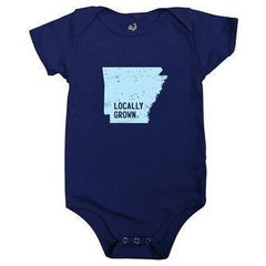 Arkansas Grown Navy Onesie