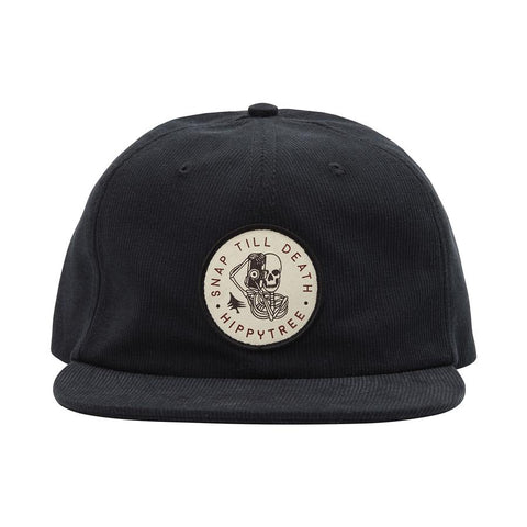 Hippy Tree Bones Hat Black