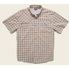 Howler Brothers Matagorda Button Up Shortsleeve Shirt - Earl Grey/Orange
