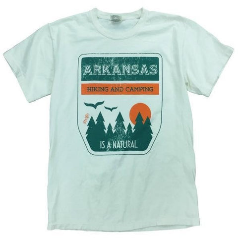 arkansas hiking and camping t-shirt