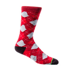 Red Argyle Arkansas Socks