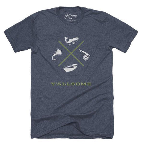 Navy Fly Fisher Tee