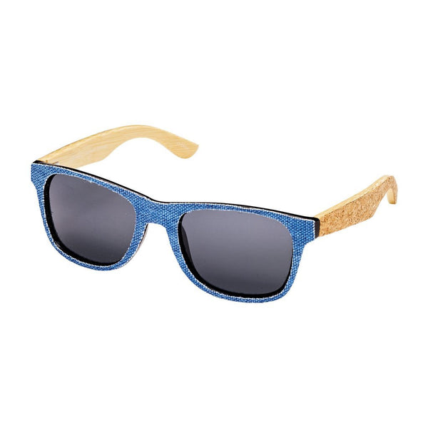 blue planet cork & denim sunglasses
