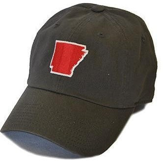 Arkansas Outline Hat- Charcoal