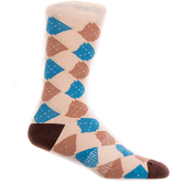 Argyle Arkansas Sock - Brown/Blue